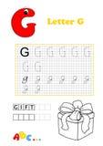 Alfabeto, regalo Foto de archivo libre de regalías