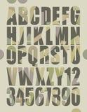 Alfabeto retro Fotos de archivo