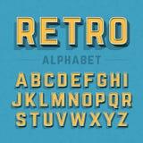 Alfabeto retro do estilo ilustração stock
