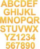 Alfabeto riempito dalle linee casuali modello Immagine Stock