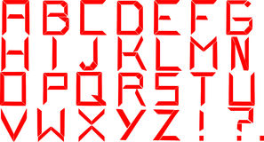 Alfabeto rojo Imagen de archivo