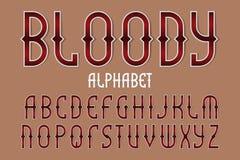 Alfabeto rojo sangriento Fuente estilizada del juego Alfabeto ingl?s aislado libre illustration