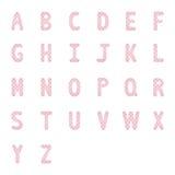 Alfabeto rosado letters2 del corazón Foto de archivo