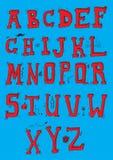 Alfabeto rosso Fotografia Stock Libera da Diritti