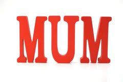 Alfabeto rosso delle lettere della mummia su fondo bianco fotografie stock