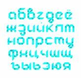 Alfabeto russo nello stile - origami Fotografia Stock