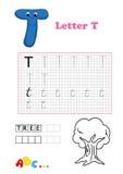 Alfabeto, árvore Imagens de Stock