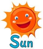 Alfabeto S para o sol Foto de Stock Royalty Free