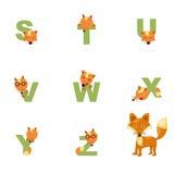 Alfabeto S-Z Fox Immagini Stock