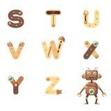 Alfabeto S-Z Robot Foto de archivo