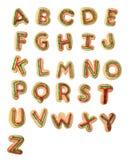 Alfabeto sabroso fotografía de archivo libre de regalías