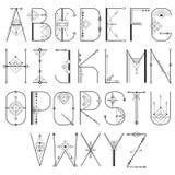 Alfabeto sagrado moderno do vetor ilustração do vetor