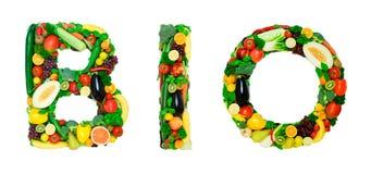 Alfabeto sano - BIO- Immagine Stock Libera da Diritti