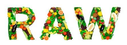 Alfabeto sano - CRUDO Fotografie Stock Libere da Diritti