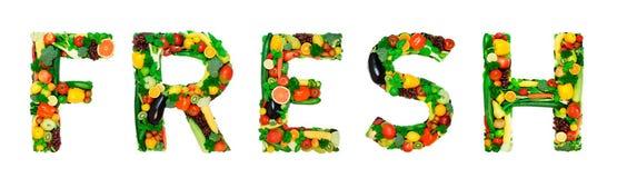 Alfabeto sano - FRESCO Fotografia Stock Libera da Diritti