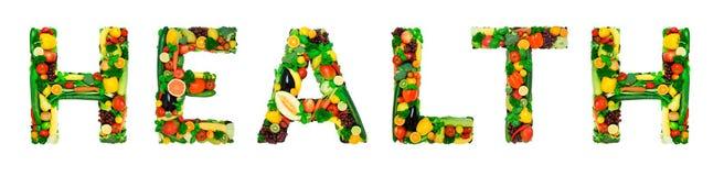Alfabeto sano - SALUTE Immagini Stock