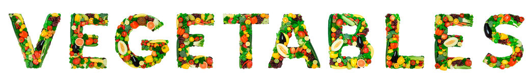Alfabeto sano - VERDURE Fotografia Stock Libera da Diritti