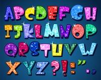 Alfabeto scintillante illustrazione di stock
