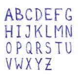 Alfabeto scritto mano dell'acquerello ABC ha dipinto la fonte Immagine Stock Libera da Diritti