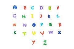Alfabeto scritto a mano della penna di colore. Immagini Stock