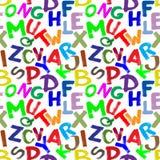 Alfabeto sem emenda Imagem de Stock Royalty Free
