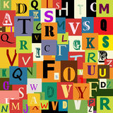 Alfabeto sem emenda Foto de Stock Royalty Free