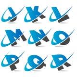 Alfabeto Set2 de Swoosh ilustração royalty free