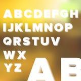 Alfabeto simple transparente acodado Imágenes de archivo libres de regalías