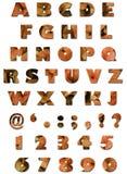 Alfabeto - struttura dei fogli - autunno arancione Fotografie Stock Libere da Diritti