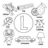 Alfabeto sveglio dei bambini di vettore illustrazione vettoriale