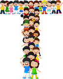 Alfabeto T do formulário das crianças ilustração do vetor