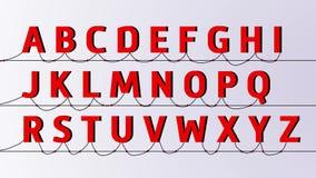 Alfabeto in tensione di colore illustrazione di stock