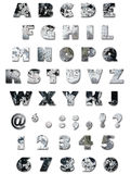 Alfabeto - textura da parede Imagens de Stock Royalty Free