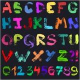 Alfabeto tirado mão do guache Ilustração do Vetor