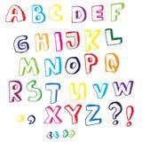 Alfabeto tirado mão do vetor Imagem de Stock