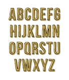 Alfabeto tirado mão do esboço Ilustração do vetor Fotografia de Stock Royalty Free