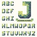 Alfabeto triangolare poligonale completo D'avanguardia composto per la vostra progettazione illustrazione di stock