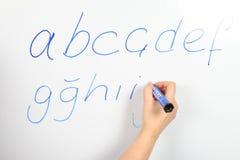 Alfabeto turco Fotografia Stock Libera da Diritti