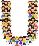 Alfabeto U do formulário das crianças ilustração stock