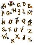 Alfabeto víspera de Todos los Santos Fotografía de archivo libre de regalías