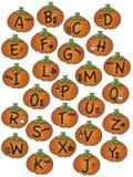 Alfabeto víspera de Todos los Santos Foto de archivo