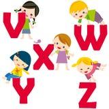 alfabeto V-Z ilustração stock