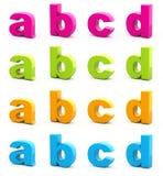 Alfabeto variopinto. Immagine Stock