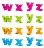 Alfabeto variopinto. Fotografia Stock Libera da Diritti