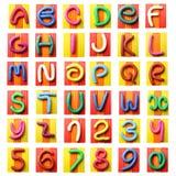 Alfabeto variopinto del plasticine Fotografie Stock Libere da Diritti