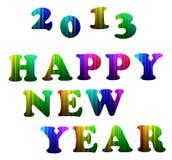 Alfabeto variopinto di nuovo anno felice 2013 Fotografia Stock Libera da Diritti