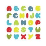 Alfabeto variopinto di vettore Fotografia Stock