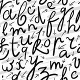 Alfabeto (vector inconsútil) Foto de archivo