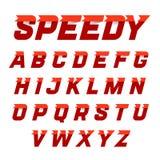 Alfabeto veloce di stile Fotografia Stock Libera da Diritti