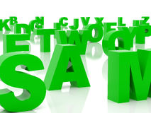 Alfabeto verde Fotografia Stock Libera da Diritti